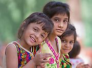 Three girls from Bandhabgarh, India.