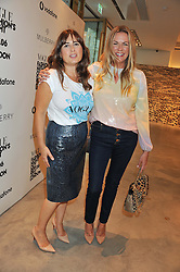 Left to right, ALEXANDRA SHULMAN and EMMA HILL at a party to celebrate the launch of the Vogue Fashion's Night Out held at Mulberry, Bond Street, London on 6th September 2012.