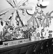 Y-590930B-11. Poncho's restaurant interior. 3390 NE Sandy. September 30, 1959.