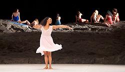 Tanztheater Wuppertal Pina Bausch <br /> 'Masurca Fogo' <br /> at Sadler's Wells, London, Great Britain <br /> rehearsals<br /> 8th February 2017 <br /> <br /> Tanztheater Wuppertal Pina Bausch: Masurca Fogo<br /> Regina Advento<br /> Masurca Fogo, created by the endlessly inventive Pina Bausch, returns to Sadler's Wells from 9 - 12 February 2017. The piece is performed by the legendary Tanztheater Wuppertal Pina Bausch, a Sadler's Wells International Associate Company.<br /> <br /> <br /> <br /> <br /> Performers:<br /> Regina Advento, Pablo Aran Gimeno, Emma Barrowman, Rainer Behr, Andrey Berezin, Michael Carter, Çağdaş Ermis, Silvia Farias Heredia, Jonathan Fredrickson, Ditta Miranda Jasjfi, Daphnis Kokkinos, Cristiana Morganti, Breanna O'Mara, Nazareth Panadero, Julie Shanahan, Oleg Stepanov, Julian Stierle, Fernando Suels Mendoza, Aida Vainieri, Ophelia Young.<br /> <br /> Photograph by Elliott Franks <br /> Image licensed to Elliott Franks Photography Services
