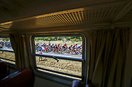 Illustration, Scenery, Peloton, french flag, Train during the 105th Tour de France 2018, Stage 8, Dreux - Amiens Metropole (181km) on July 14th, 2018 - Photo Luca Bettini / BettiniPhoto / ProSportsImages / DPPI