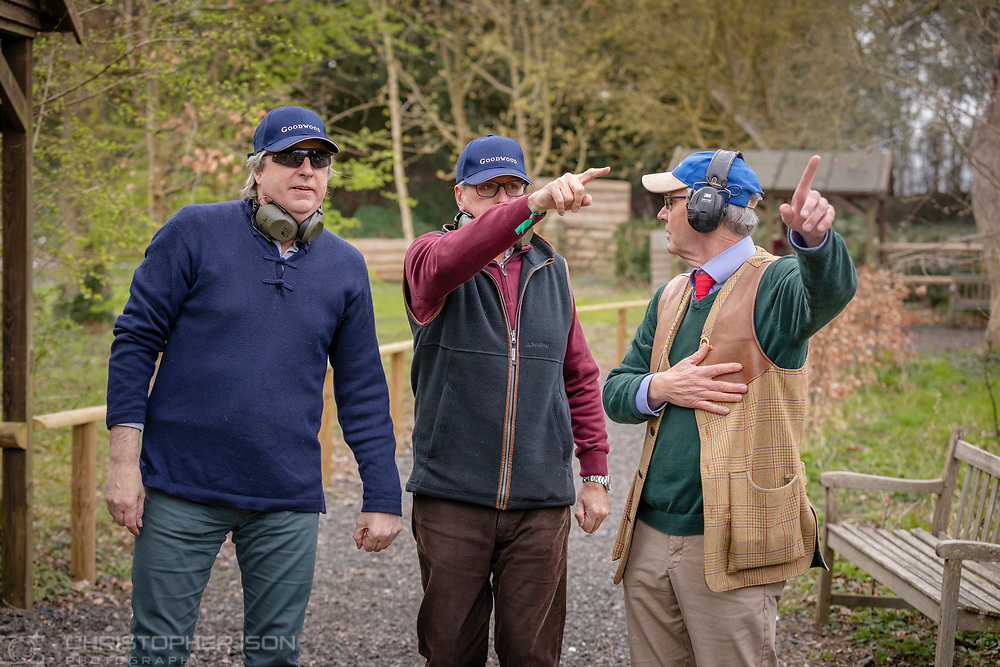 Image shot for Governors books to be produced after 77th Member's Meeting.<br /> Picture shows Governor Richard Meins at the clay pigeon shoot. <br /> Picture date: Friday April 5, 2019.<br /> Photograph by Christopher Ison ©<br /> 07544044177<br /> chris@christopherison.com<br /> www.christopherison.com
