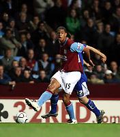 Photo: Mark Stephenson.<br /> Aston Villa v Leicester City. Carling Cup. 26/09/2007.Villa's Curtis Daves on the ball