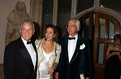Left to right, LORD EVANS, CAROLINE MICHEL and LORD BAKER OF DORKING at a dinner to announce the 2005 Man Booker Prize held at The Guilhall, City of London on 10th October 2005.<br /><br />NON EXCLUSIVE - WORLD RIGHTS