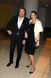 SIMON & YASMIN LE BON at a Burns Night supper in aid of Clic Sargent & Children's Hospital Association Scotland hosted by Ewan McGregor, Sharleen Spieri and Lady Helen Taylor at St.Martin's Lane Hotel, 45 St Martin's Lane, London on 25th January 2006.<br />