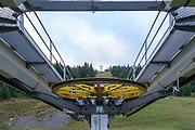 Ski lift, Italy, Lombardy near Brescia