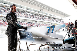 May 13, 2017 - Barcelona, Spain - Motorsports: FIA Formula One World Championship 2017, Grand Prix of Spain, .mechanic of Mercedes AMG Petronas F1 Team  (Credit Image: © Hoch Zwei via ZUMA Wire)
