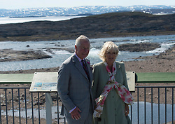 Prince Charles and Camilla, Duchess of Cornwall, pose for a photograph as they tour the Sylvia Grinnell territorial park, Thursday, June 29, 2017 in Iqaluit, Nunavut, Canada. Photo by Adrian Wyld/ABACAPRESS.COM