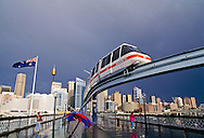 Australia, Sydney, Darling Harbor, Monorail