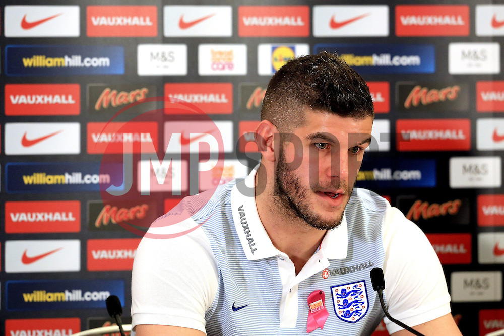 England goalkeeper Frazer Forster (Southampton) speaks to the media  - Mandatory byline: Matt McNulty/JMP - 22/03/2016 - FOOTBALL - St George's Park - Burton Upon Trent, England - Germany v England - International Friendly - England Training and Press Conference