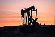 Pump jacks in Odessa, Texas in the Permian Basin.