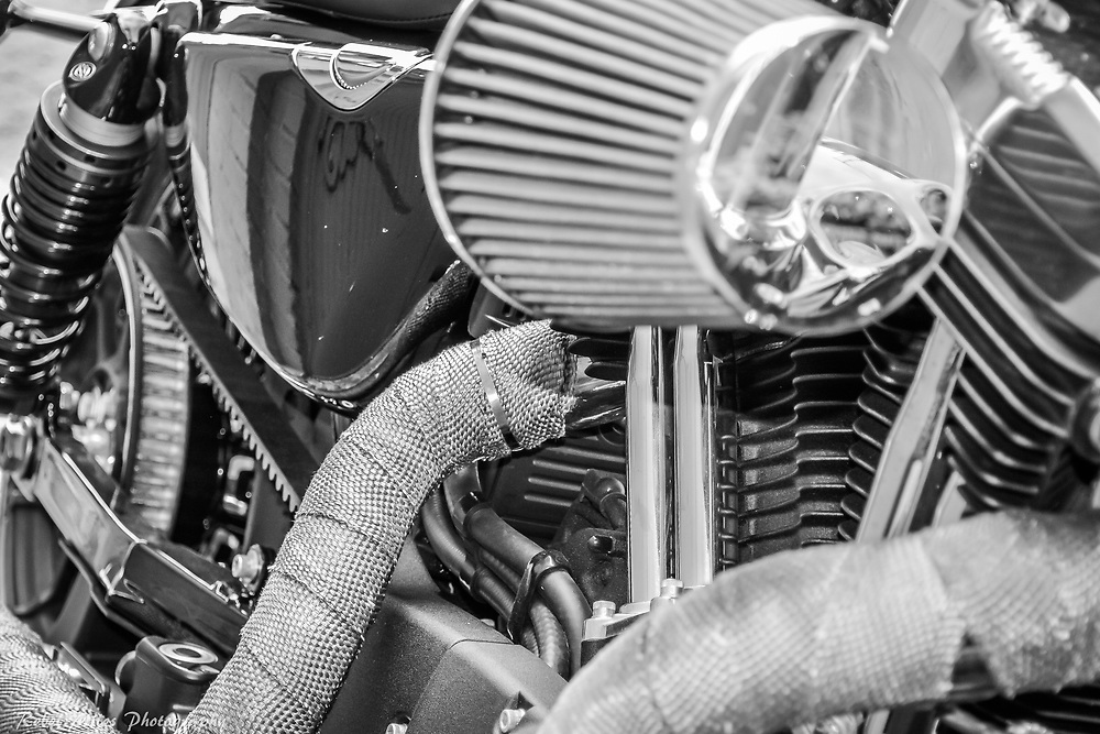 2017 Harley Davidson Sportster 49 Wrapped Pipes In An Alley In Traverse City, Michigan