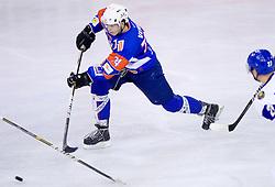 Miha Verlic of Slovenia during friendly ice-hockey match between National teams of Slovenia and Kazakhstan, on April 12, 2011 at Hala Tivoli, Ljubljana, Slovenia. Kazakhstan defeated Slovenia 3-0.  (Photo By Vid Ponikvar / Sportida.com)