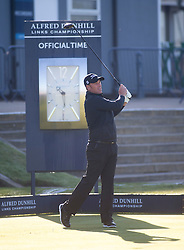 Shane Warne. Alfred Dunhill Links Championship this morning at St Andrews.