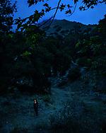Portrait of Erlina in Stough Canyon near Burbank, California