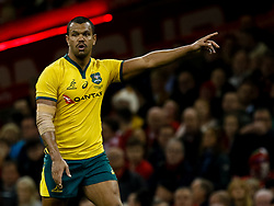 Kurtley Beale of Australia<br /> <br /> Photographer Simon King/Replay Images<br /> <br /> Under Armour Series - Wales v Australia - Saturday 10th November 2018 - Principality Stadium - Cardiff<br /> <br /> World Copyright © Replay Images . All rights reserved. info@replayimages.co.uk - http://replayimages.co.uk