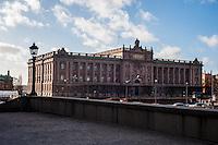 Swedish Parliament - Riksdag - Street scenes from Stockholm