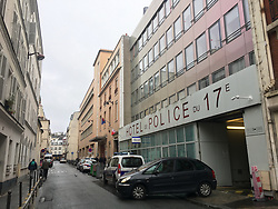Police station, Rue Truffaut, 17e district in Paris, France on January 22, 2019 where the young woman filed a rape complaint. US singer Chris Brown was arrested in Paris yesterday morning January 21, 2019, with two other people on suspicion of rape, a French police source said. Three men had been detained after a 24-year-old woman alleged she was raped at Brown's hotel suite on the night of January 15. Photo by ABACAPRESS.COM