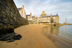 View of Bain's Beach on Commercial Street  in old town of Lerwick, Shetland Isles, Scotland, UK