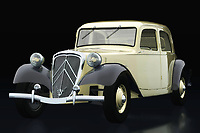The legendary 1938 Citroën Traction is shown in profile. Every detail of the Citroën Traction can be found in this painting and will certainly surprise every car lover.