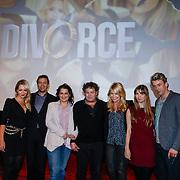 NLD/Amsterdam/20121210 - Persviewing Divorce, Chantal Janzen, Jeroen Spitzenberger, Carly Wijs, Dirk Zeelenberg, Linda de Mol, Katja Herbers en Waldemar Torenstra