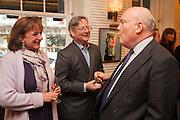 ROSA MONCKTON; DOMINIC LAWSON; JULIAN FELLOWES, Vanity Fair Lunch hosted by Graydon Carter. 34 Grosvenor Sq. London. 14 May 2013