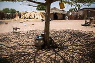 Mai 2018. Les Disparus - Sénégal Episode 2. Région de Tambacounda à l'est du Sénégal. Village de Kothiary. Famille Diaw: le disparu: Abdoul Diaw, né en 1983 (disparu en novembre 2016);<br /> Son épouse (PORTRAIT) : Maïmouna Diaw; Ses enfants: Fama, 10 ans, Bokar, 5 ans, Sali, 4 ans; Ses parents: Manga, le père, Aissata, la mère. Familles de jeunes hommes migrants disparus le 18 avril 2015 dans un chalutier bleu d'une vingtaine de mètres rentrée en collision avec le King Jacob, porte-conteneurs de 150 mètres, au large de l'Italie. Entre 800 et 1000 migrants étaient dans le bâteau. 29 ont survécu.