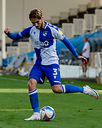 Bristol Rovers defender Luke Leahy (3) during the EFL Sky Bet League 1 match between Bristol Rovers and Ipswich Town at the Memorial Stadium, Bristol, England on 19 September 2020.