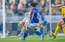 Rezan Corlu (Lyngby Boldklub) scorer til 2-1 under kampen i 3F Superligaen mellem Lyngby Boldklub og Hobro IK den 20. juli 2020 på Lyngby Stadion (Foto: Claus Birch).