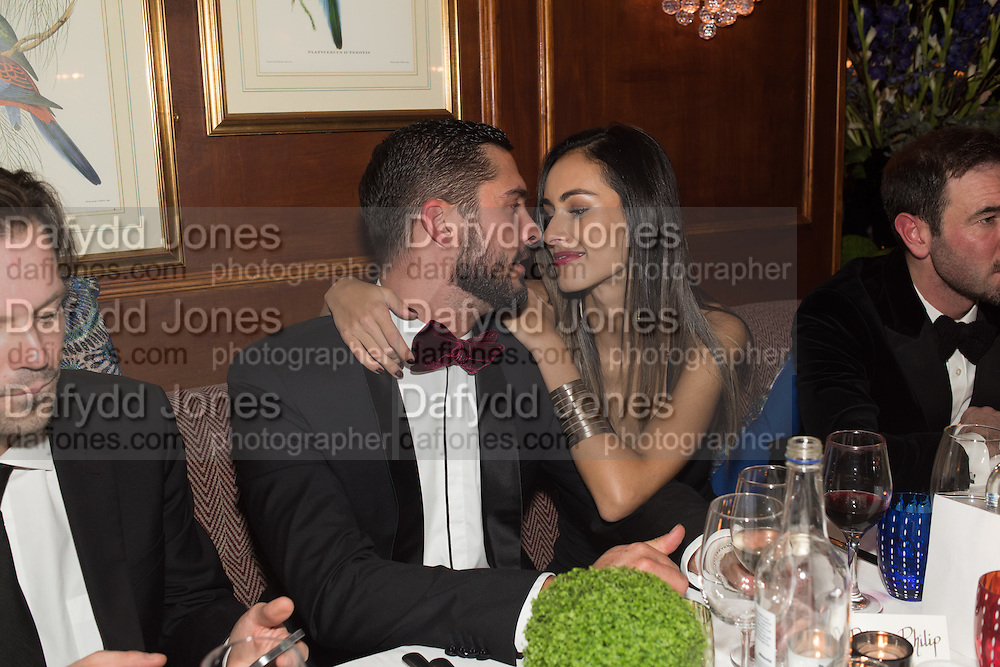 HUGO TAYLOR; ALINE LIMA,, Fraser Carruthers  and Harry Scofield birthday. Archie's club, 92b Old Brompton Rd. London. 11 February 2017