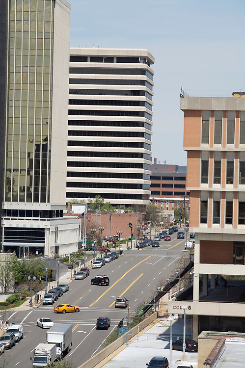 Buildings in downtown Clayton, Missouri