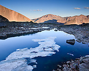 Mount Elbert 14,433ft is viewed from the headwaters of Halfmoon Creek in the Sawatch Range.