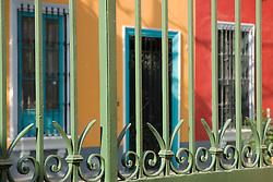 Colorful houses in Barranco neighborhood, Lima, Peru, South America