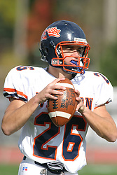 22 October 2005: Thunder CB Tim March. The Illinois Wesleyan Titans posted a 23 - 14 home win by squeeking past the Thunder of Wheaton College at Wilder Field (the 5th oldest collegiate field in the US) on the campus of Illinois Wesleyan University in Bloomington IL