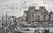 The warehouse of the West India Company in Amsterdam, on the corner of Rapenburg, built in 1642.