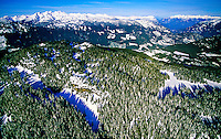 Aerial view near Whistler, British Columbia, Canada