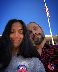 """Zoe Saldana releases a photo on Instagram with the following caption: """"\ud83c\uddfa\ud83c\uddf8\ud83c\uddfa\ud83c\uddf8\ud83c\uddfa\ud83c\uddf8\ud83c\uddfa\ud83c\uddf8 For my country, for my family, for my people, for the state we call home."""". Photo Credit: Instagram *** No USA Distribution *** For Editorial Use Only *** Not to be Published in Books or Photo Books ***  Please note: Fees charged by the agency are for the agency's services only, and do not, nor are they intended to, convey to the user any ownership of Copyright or License in the material. The agency does not claim any ownership including but not limited to Copyright or License in the attached material. By publishing this material you expressly agree to indemnify and to hold the agency and its directors, shareholders and employees harmless from any loss, claims, damages, demands, expenses (including legal fees), or any causes of action or allegation against the agency arising out of or connected in any way with publication of the material."""