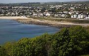 Gyllyngdune beachand hotels, Falmouth, Cornwall, England, UK