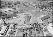 "Ackroyd 03628-2 ""Aerials. West Coast Fast Freight. May 22, 1952"" (Calbag junkyard) 2800 NW 25th Ave."