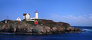 Nubble Light In Twilight, Cape Neddick, Maine
