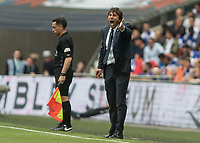 Football - 2017 FA Cup Final - Arsenal vs. Chelsea<br /> <br /> Chelsea Manager Antonio Conte breates his team at Wembley.<br /> <br /> COLORSPORT/DANIEL BEARHAM