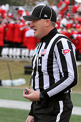 06 December 2014:  Normal Illinois.  Line judge: Kirk Mattson during a 1st round FCS NCAA football game between the Panthers of Northern Iowa and the Redbirds of Illinois State in Hancock Stadium.  Illinois State won the game 41-21.
