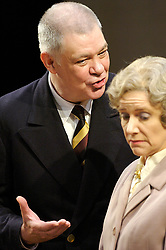 Forgotten Voices<br /> by Malcom McKay<br /> at the Riverside Studios, Hammersmith, London, Great Britain<br /> press photocall<br /> 31st May 2007<br /> <br /> Matthew Kelly (as Harris)<br /> Belinda Lang (as Kitty)<br /> <br /> Photograph by Elliott Franks