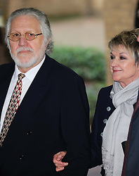 Dave Lee Travis and his wife Marianne Griffin outside Southwark Crown Court in London after he was cleared of 12 out of 14 charges, Thursday, 13th February 2014. Picture by Stephen Lock / i-Images