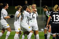 BILDET INNGÅR IKKE I FASTAVTALER. ALL NEDLASTING BLIR FAKTURERT.<br /> <br /> Fotball<br /> Tyskland<br /> Frankfurt v Lillestrøm<br /> Foto: imago/Digitalsport<br /> NORWAY ONLY<br /> <br /> 18.11.2015<br /> Rückspiel im Achtelfinale der UEFA Women s Champions League: 1. FFC Frankfurt gegen LSK Kvinner am Mittwoch (18.11.2015) im Stadion am Brentanobad in Frankfurt am Main. Kvinner jubel t nach dem 1:0 durch Emma Lundh (LSK Kvinner).