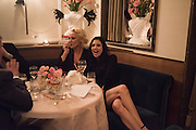 AMANDA ELIASCH; NEFER SUVIO, Nicky Haslam hosts dinner at  Gigi's for Leslie Caron. 22 Woodstock St. London. W1C 2AR. 25 March 2015