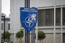 June 22, 2017 - Bydgoszcz, Poland - The logo of the NATO Joint Force Training Centre (JFTC) is seen on 22 June, 2017. (Credit Image: © Jaap Arriens/NurPhoto via ZUMA Press)