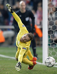 15-03-2016 ESP, UEFA CL, Atletico Madrid - PSV Eindhoven, Madrid<br /> Atletico de Madrid's Jan Oblak // during the UEFA Champions League Round of 16, 2nd Leg match between Atletico Madrid and PSV Eindhoven at the Estadio Vicente Calderon in Madrid, Spain on 2016/03/15. <br /> <br /> ***NETHERLANDS ONLY***