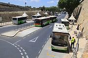 Buses at city centre bus station city of Valletta, Malta