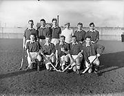 11/01/1958<br /> 01/11/1958<br /> 11 January 1958<br /> Interprovincial Mens Hockey: Munster v Leinster at London Bridge Road, Sandymount, Dublin. The Munster team.
